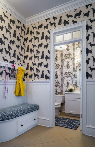 dog-wallpaper-mudroom-bathroom