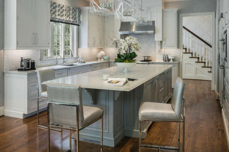 gray-white-mdoern-kitchen-island