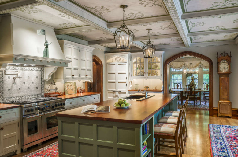 olive-green-kitchen-island