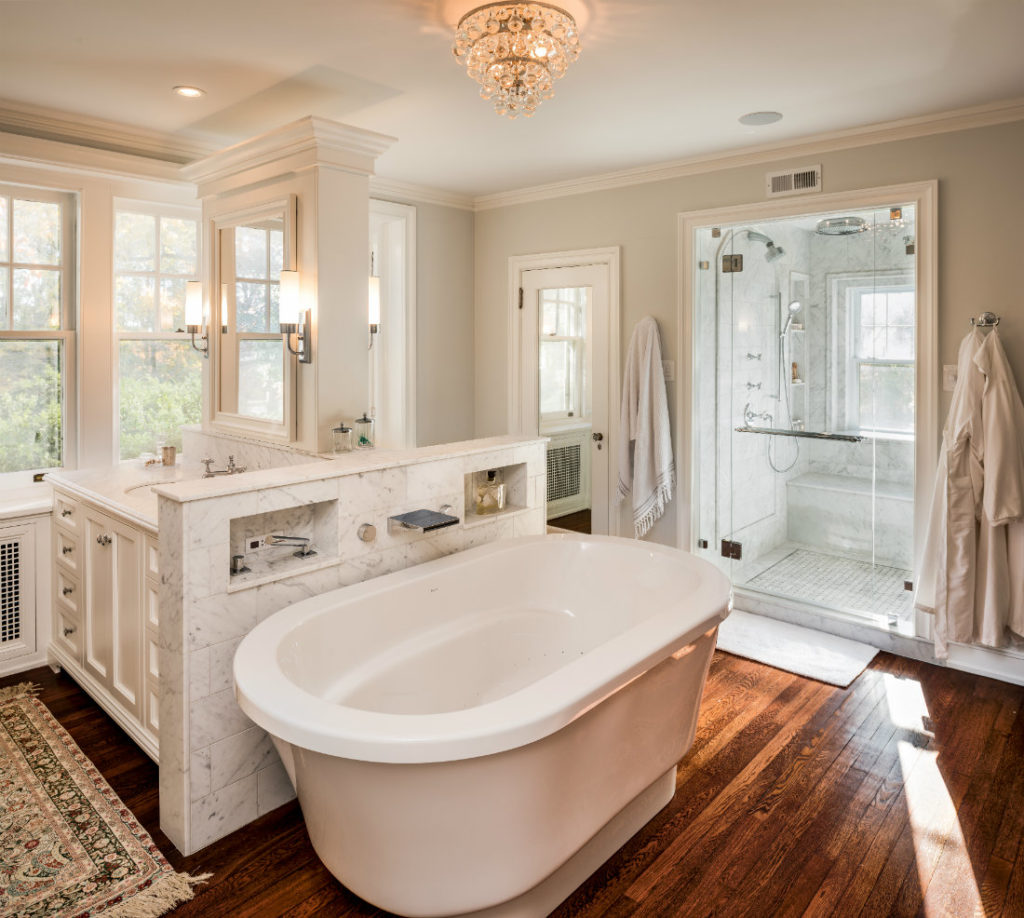 Villanova Residence Meadowbank Interior Design Master Bathroom Tub Renovation