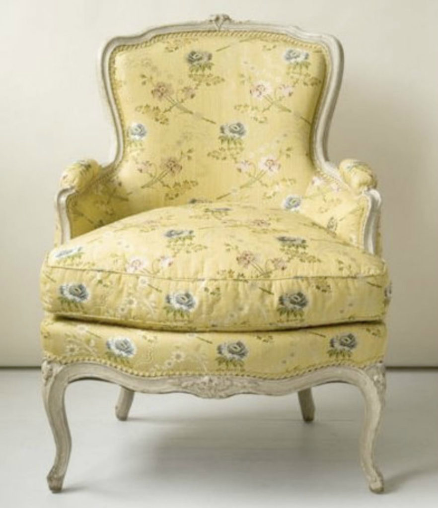Traditional French Bergere Fabric Meadowbank Interiordesign