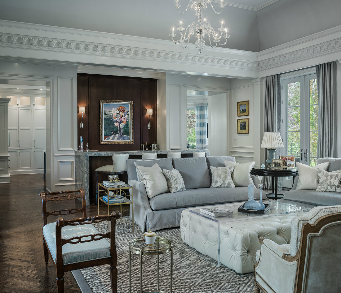Meadowbank Interior Design Modern Traditional Living Room