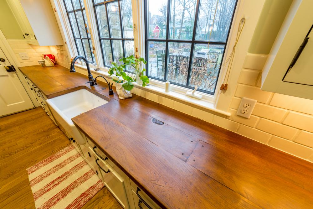 Meadowbank Designs Interior Design Counter Top Kitchen Woodform Concrete
